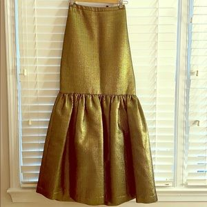Maxi gold mermaid skirt